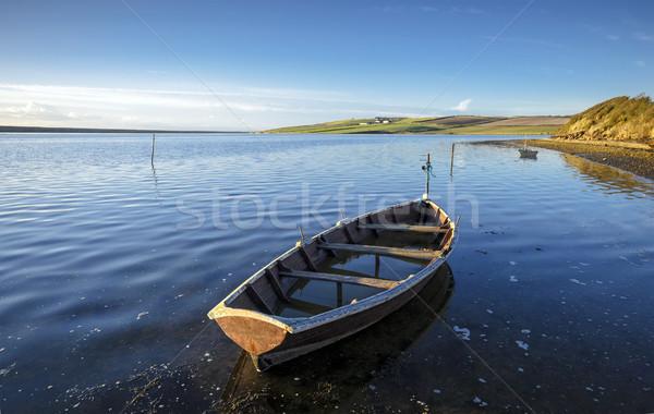 лодках флот воды морем океана синий Сток-фото © flotsom