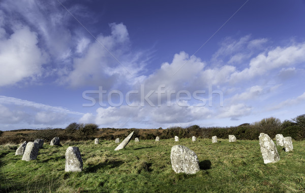 Boscawen-Un Stone Circle Stock photo © flotsom