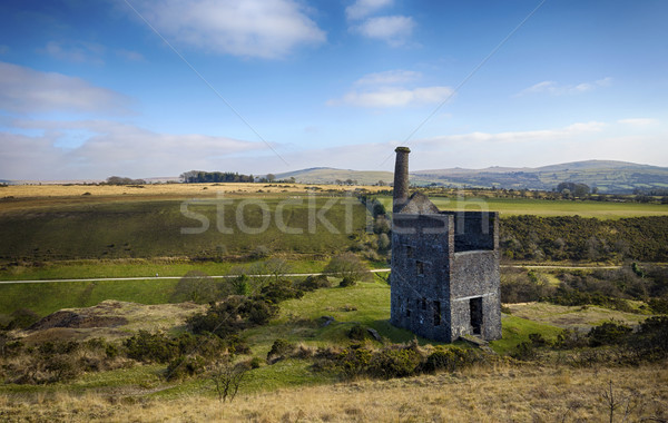 The ruins of Wheal Betsy Engine House in Devon Stock photo © flotsom