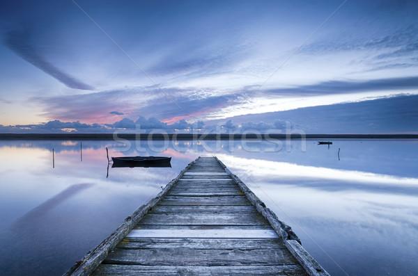 флот закат пляж воды облака пейзаж Сток-фото © flotsom