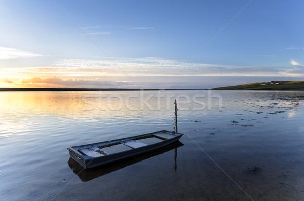 синий флот лодка воды морем Сток-фото © flotsom