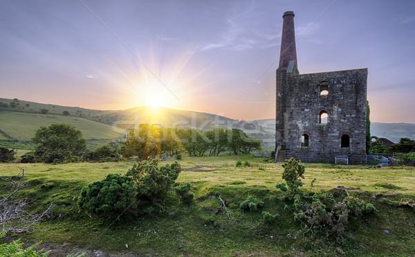 Tin mine storico sole tramonto natura Foto d'archivio © flotsom