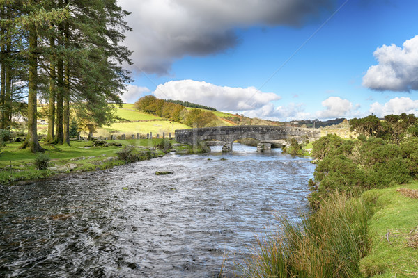 Dart rivière pont vieux granit Photo stock © flotsom
