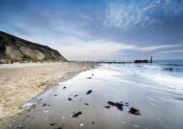 Tête plage coucher du soleil paysage mer vagues Photo stock © flotsom