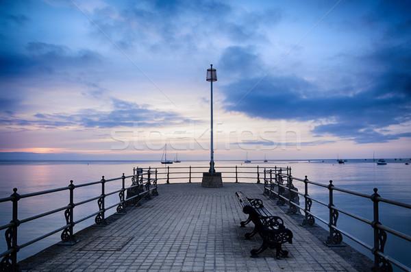 пирс Восход лет небе воды закат Сток-фото © flotsom