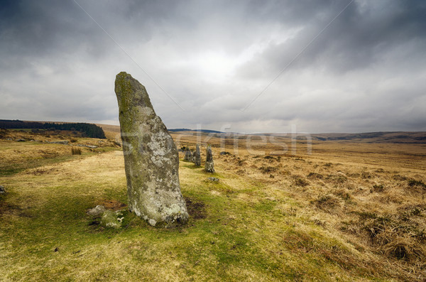 Standing Stones on Dartmoor Stock photo © flotsom