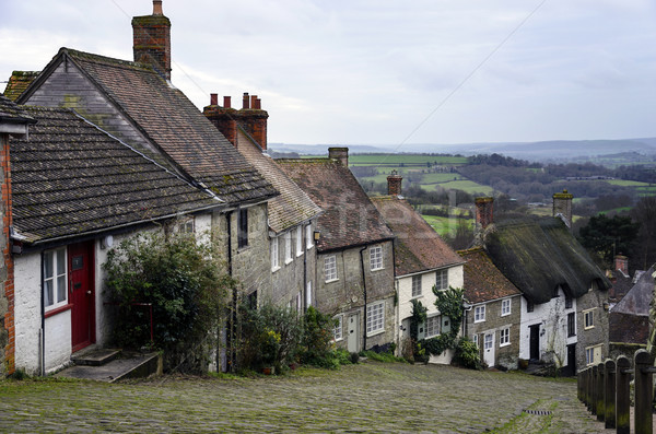 Gold Hill in Shaftesbury, Dorset Stock photo © flotsom