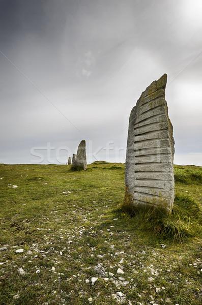 Standing Stones at Tout Quarry Stock photo © flotsom