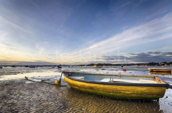 Yellow Boat on Beach Stock photo © flotsom