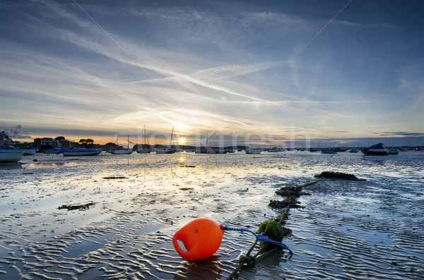 Sunset at Sandbanks in Dorset Stock photo © flotsom