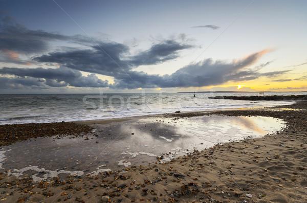 закат пляж голову пейзаж лет Восход Сток-фото © flotsom