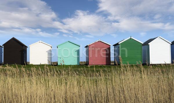 Spiaggia colorato cielo panorama estate Ocean Foto d'archivio © flotsom