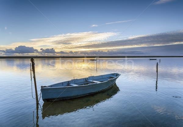 флот лодках пляж закат пейзаж морем Сток-фото © flotsom