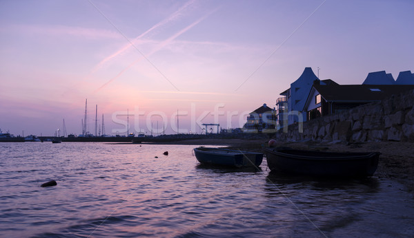 Urbaine coucher du soleil mer océan côte Photo stock © flotsom