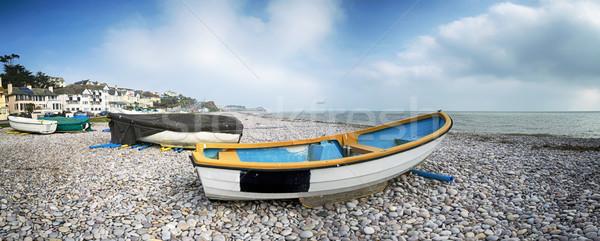 лодках пляж небе морем лет синий Сток-фото © flotsom