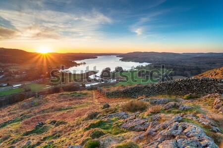 Stock photo: Sunrise at Corfe Castle