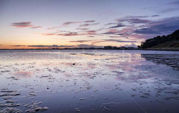Crépuscule fin plage coucher du soleil paysage mer Photo stock © flotsom