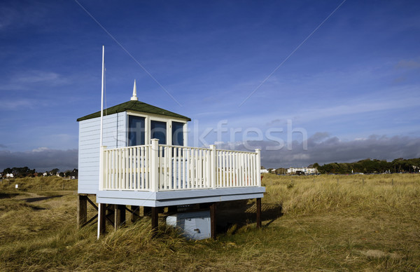 Sauveteur hutte gare sable tête cracher Photo stock © flotsom