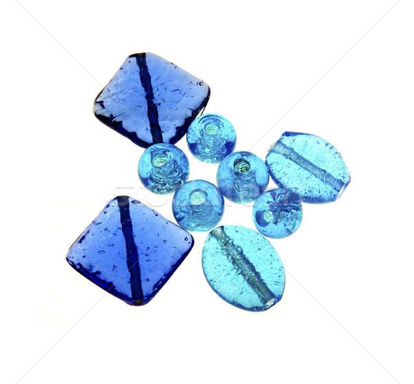Bleu verre perles art Photo stock © flotsom