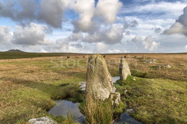 The Stannon Stone Circle Stock photo © flotsom