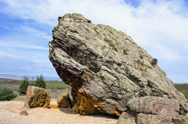 Agglestone Rock on Studland Heath in Dorset Stock photo © flotsom