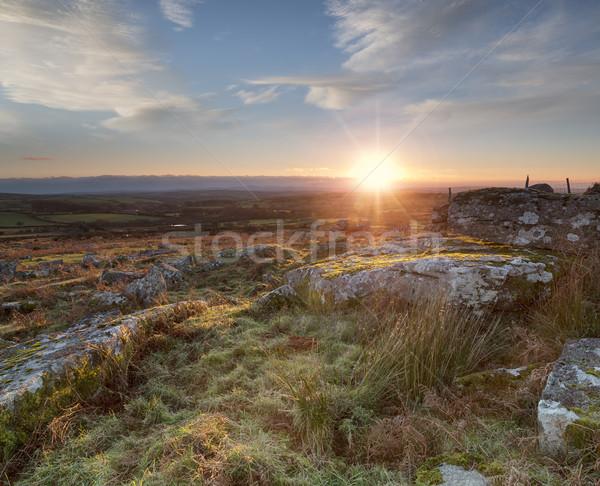 Cornish Sunset Stock photo © flotsom