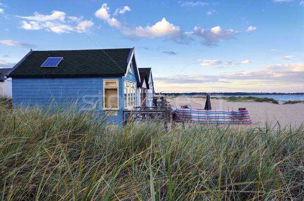 Strand spugen zand hoofd huis zomer Stockfoto © flotsom