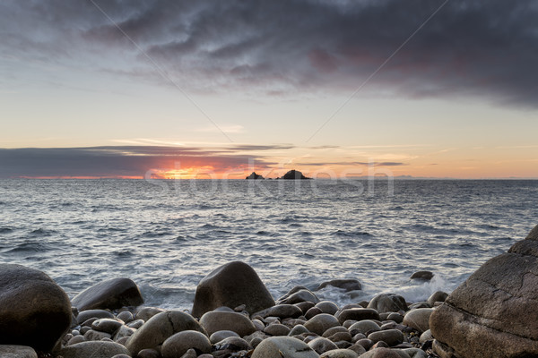 закат конец Корнуолл природы пейзаж Сток-фото © flotsom