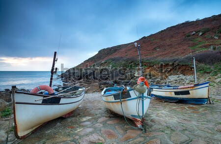 Fishing Boat on the Beach at Beer in Devon Stock photo © flotsom