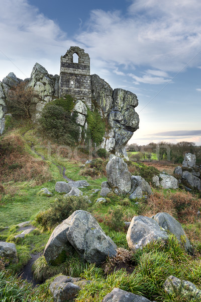 Capela antigo granito rocha cornualha natureza Foto stock © flotsom