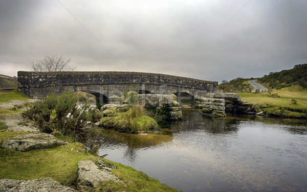 Pierre pont vieux anciens granit rivière Photo stock © flotsom
