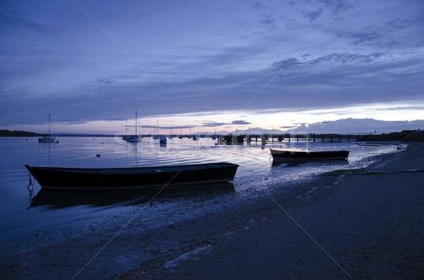 закат пирс морем океана Англии Сток-фото © flotsom