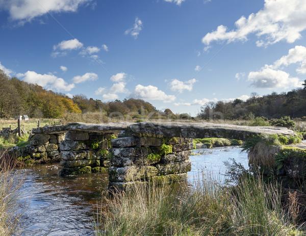 Rivier dart graniet brug park landschap Stockfoto © flotsom