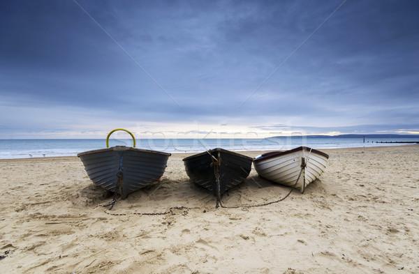 Fishing Boats on Bournemouth Beach Stock photo © flotsom