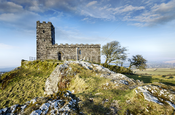 Brentor Church in Dartmoor Stock photo © flotsom