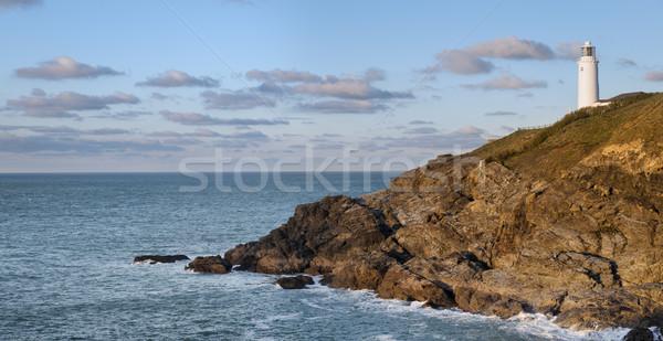 Phare tête nord côte cornwall nuages Photo stock © flotsom
