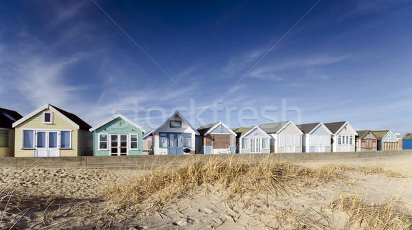 Rij strand spugen zomer oceaan zand Stockfoto © flotsom