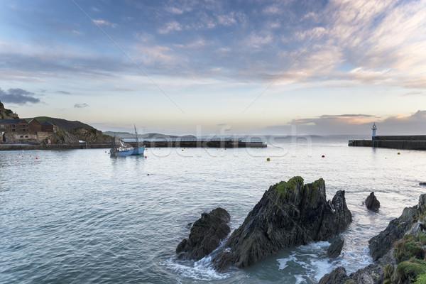 лодка Маяк рыбалки порта юг Сток-фото © flotsom