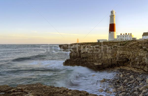 Bill phare côte ciel mer rouge Photo stock © flotsom
