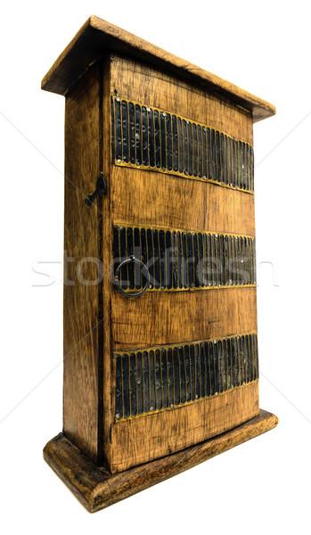 шкаф декоративный белый древесины домой Сток-фото © flotsom
