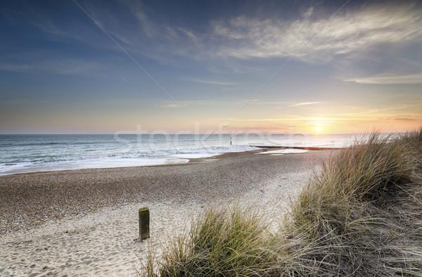 Sunset and Sand Dunes Stock photo © flotsom