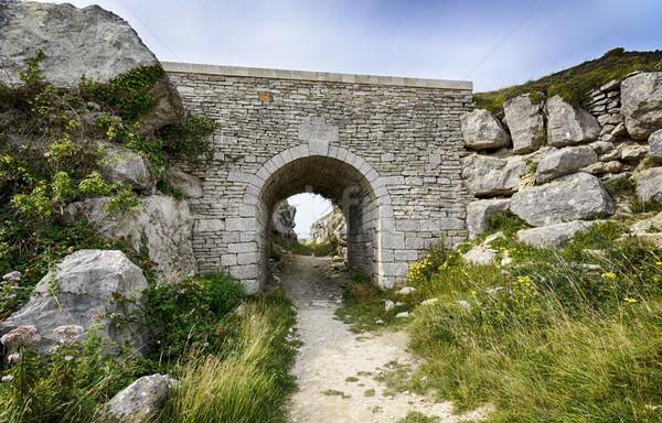 Oude steen brug pad Stockfoto © flotsom
