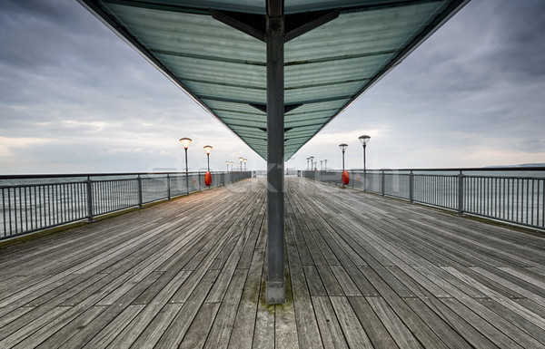 Pier plage mer bleu Angleterre Photo stock © flotsom