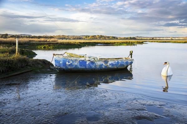 Old Blue Boat Stock photo © flotsom