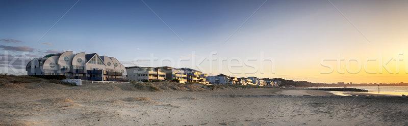 Skyline роскошь дома пляж полуостров глядя Сток-фото © flotsom
