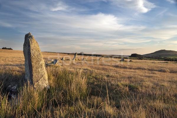 Stockfoto: Steen · cirkel · landschap · reizen · geschiedenis · mooie