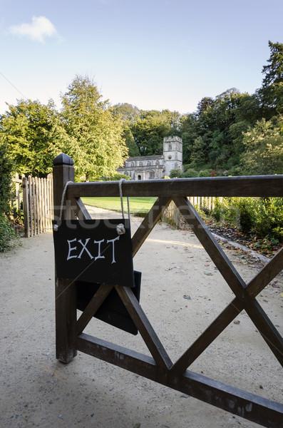 выход здесь ворот Церкви черный пути Сток-фото © flotsom