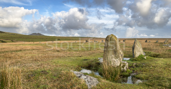 Stock photo: Stannon Stone Circle on Bodmin Moor in Cornwall