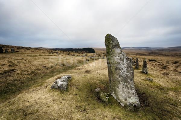 каменные круга Постоянный камней крутой холме Сток-фото © flotsom