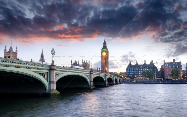 Photo stock: Londres · crépuscule · westminster · pont · Big · Ben · ville